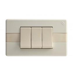 Interruptor Triple Marfil 913